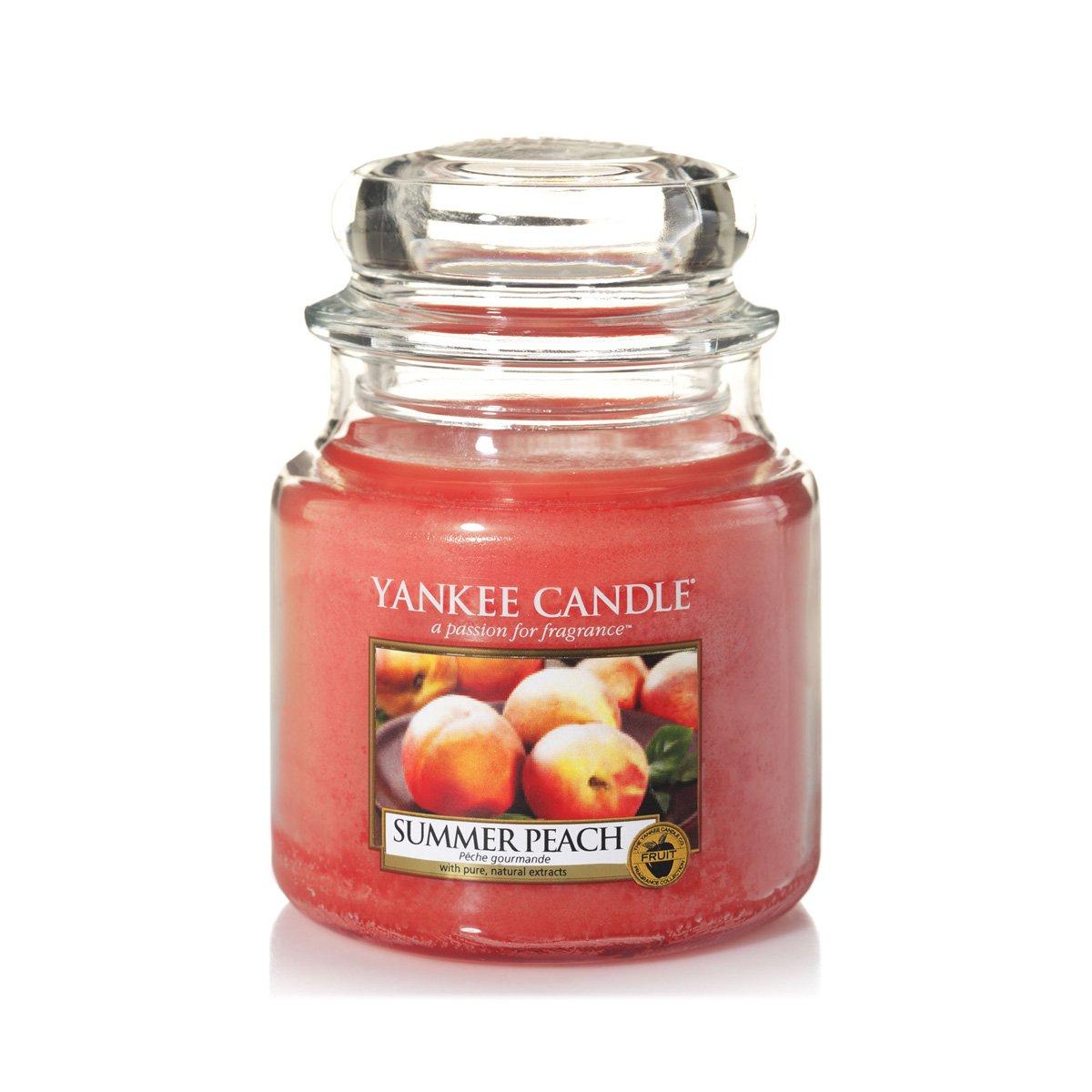 Yankee Candle 1507730E Bougie Parfumée Petite Jarre Pêche d'Été Combinaison Orange 6, 3 x 6, 2 x 7, 3 cm 104G