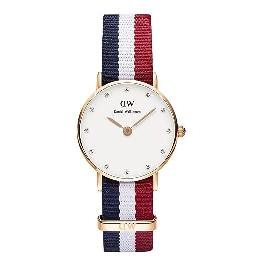 Daniel Wellington 0907DW - Reloj de cuarzo para mujer, con correa de nailon, color: Amazon.es: Relojes