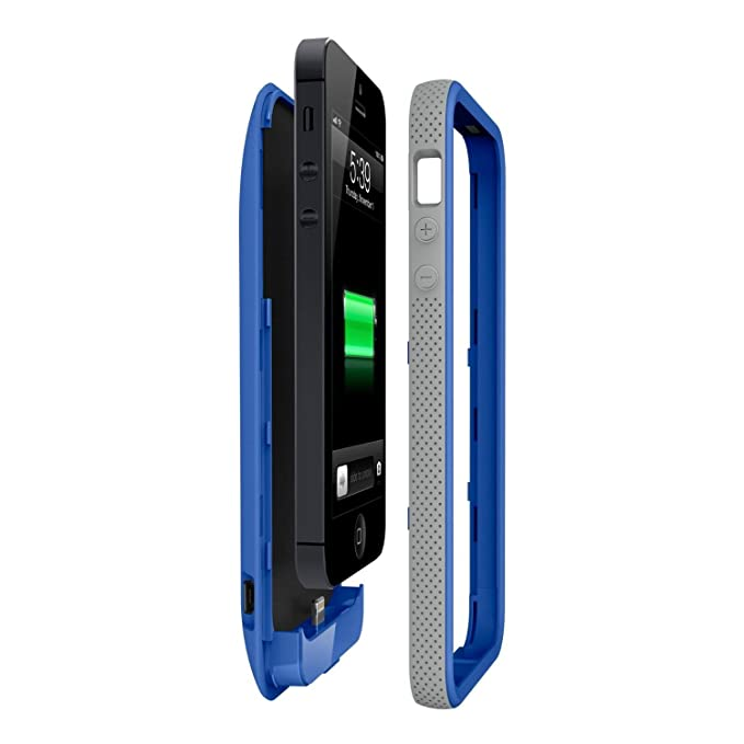the latest 5c1bf cfbd0 Belkin Grip Power Battery Case for iPhone 5 (Blue)