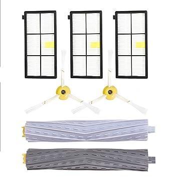 Webla - Repuestos Para Irobot Roomba 860 880 805 860 980 960 Aspirador En Serie - Filtros de Cepillo Partes Pc + Tpee + Nylon Como Se Muestra: Amazon.es: ...