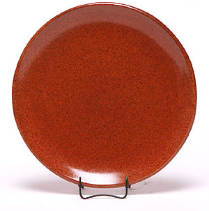 Salad Coupe Plate, Copper Clay Pattern: Made in the USA | Emerson Creek Pottery