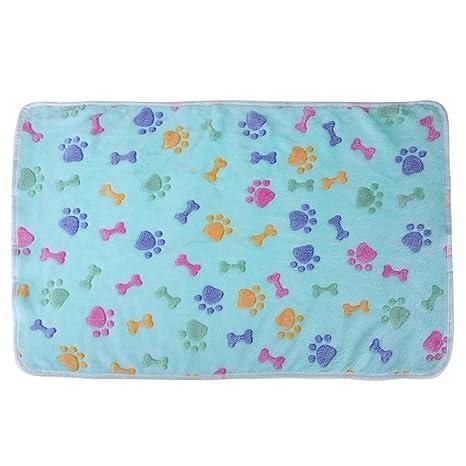 Fácil de Lavar Warm Soft Coral Velvet Pet Manta Sleep Mat Cama de Perro Puppy Cushion