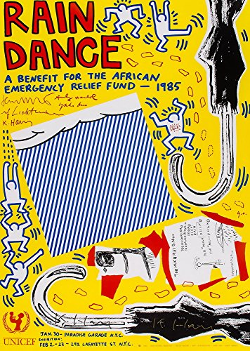 Roy Lichtenstein Giclee Canvas Print Paintings Poster Reproduction- (Rain Dance)