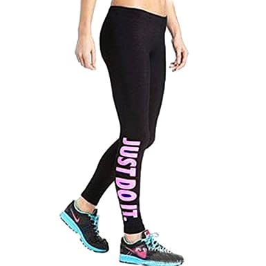 ZANZEA 10 Couleur Femme Yoga Leggings Pantalons Taille Haute Moulant  Collants Jambières Rose just do it 3f7718a7a98