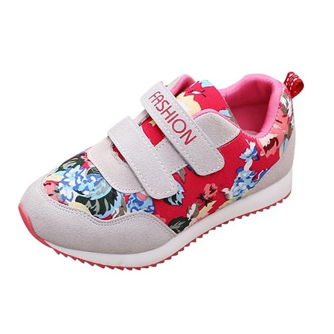 ... con Estampado de Flores y Letras para niños Niños y Niñas Carta Estampado de Flores Zapatos de Skate Zapatillas de Deporte: Amazon.es: Ropa y accesorios