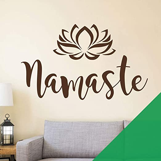 Namaste - Flower Lotus Meditation Yoga - Wall Art Sticker ...