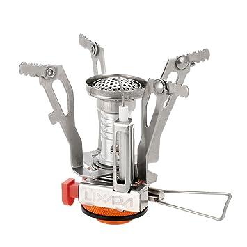 Lixada 3000W Mini Estufa de Gas Plegable Quemador Cámping Superligero: Amazon.es: Deportes y aire libre