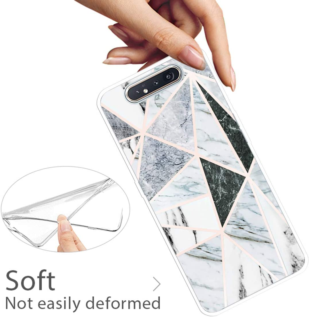 Multi-function Halterung TPU Soft D/ünn Marmor Gemalt Sto/ßstange Silikon Handyh/ülle for Samsung Galaxy A80 Standfunktion-Color 7 Huphant Kompatibel mit Samsung Galaxy A80 H/ülle Silikon Case