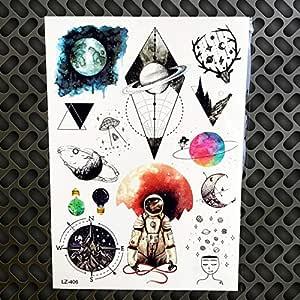 Etiqueta engomada del tatuaje temporal geométrico búho falso ...