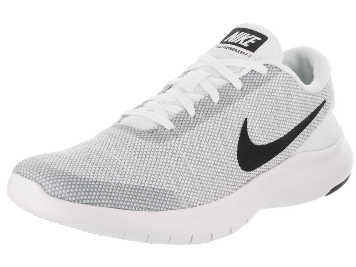 NIKE Men's Flex Experience 7 Running Shoe B071F42198 9.5 D(M) US|White/Black-wolf Grey