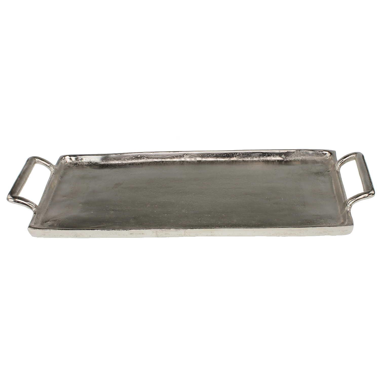 Sehr edles silbernes rechteckiges Tablett 42 x 20 cm für Dekoration ...