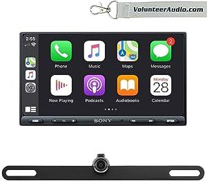"""Sony XAV-AX5000 6.95"""" Double Din Touchscreen Digital Media Player with Apple CarPlay, Android Auto, SiriusXM Ready, Free Reverse Backup Camera"""