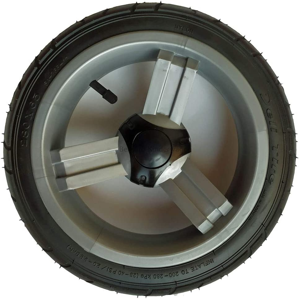 Kunststofffelge grau Kinderwagenrad Zipp 12,5 Zoll kugelgelagert und luftbereift