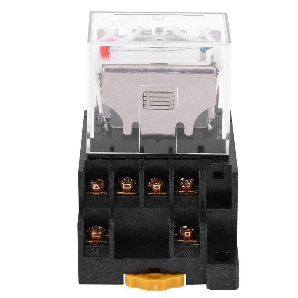Rel/è elettromagnetico a 14 pin HH64P Rel/è elettromagnetico a bobina intermedia con zoccolo 24VDC 220VAC