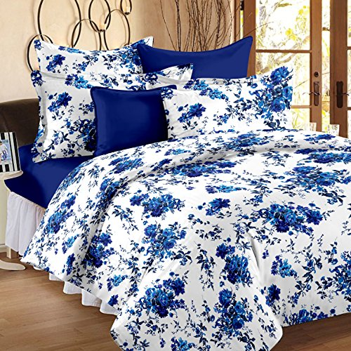 Story@Home Magic Superior 152 TC Floral 100 % Cotton Bedsheets for Double Bed