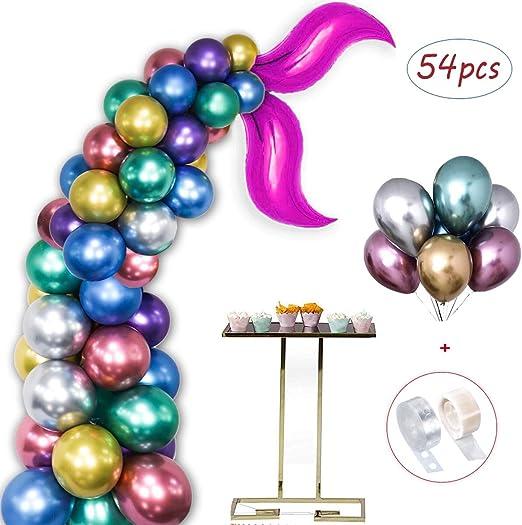 6 Meerjungfrau Latexballons Kindergeburtstag Luftballons Heliumballons Mermaid
