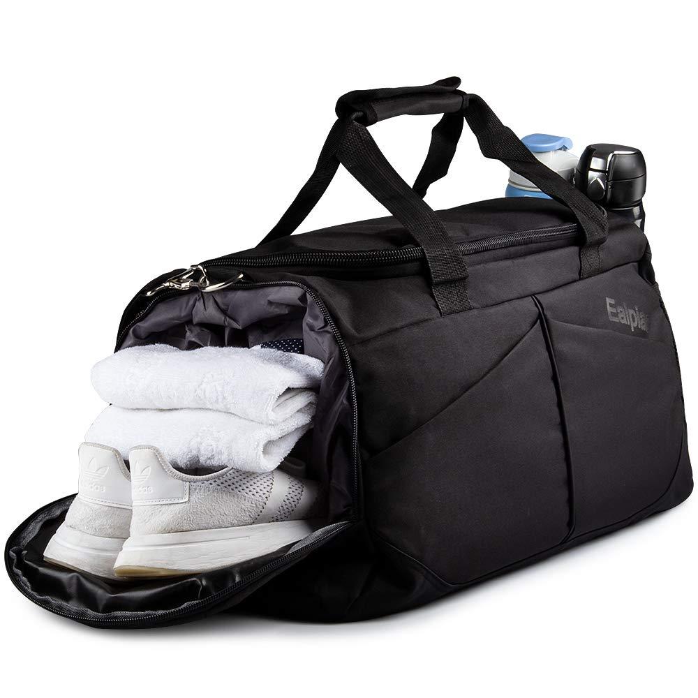 Weiao Sac de Sport Fitness Sac avec Compartiment /à Chaussures Sacs de Voyage Imperm/éables de Grande Capacit/é Sac Multiuse Sac /à Dos Sac /à Bandouli/ère et /à Main