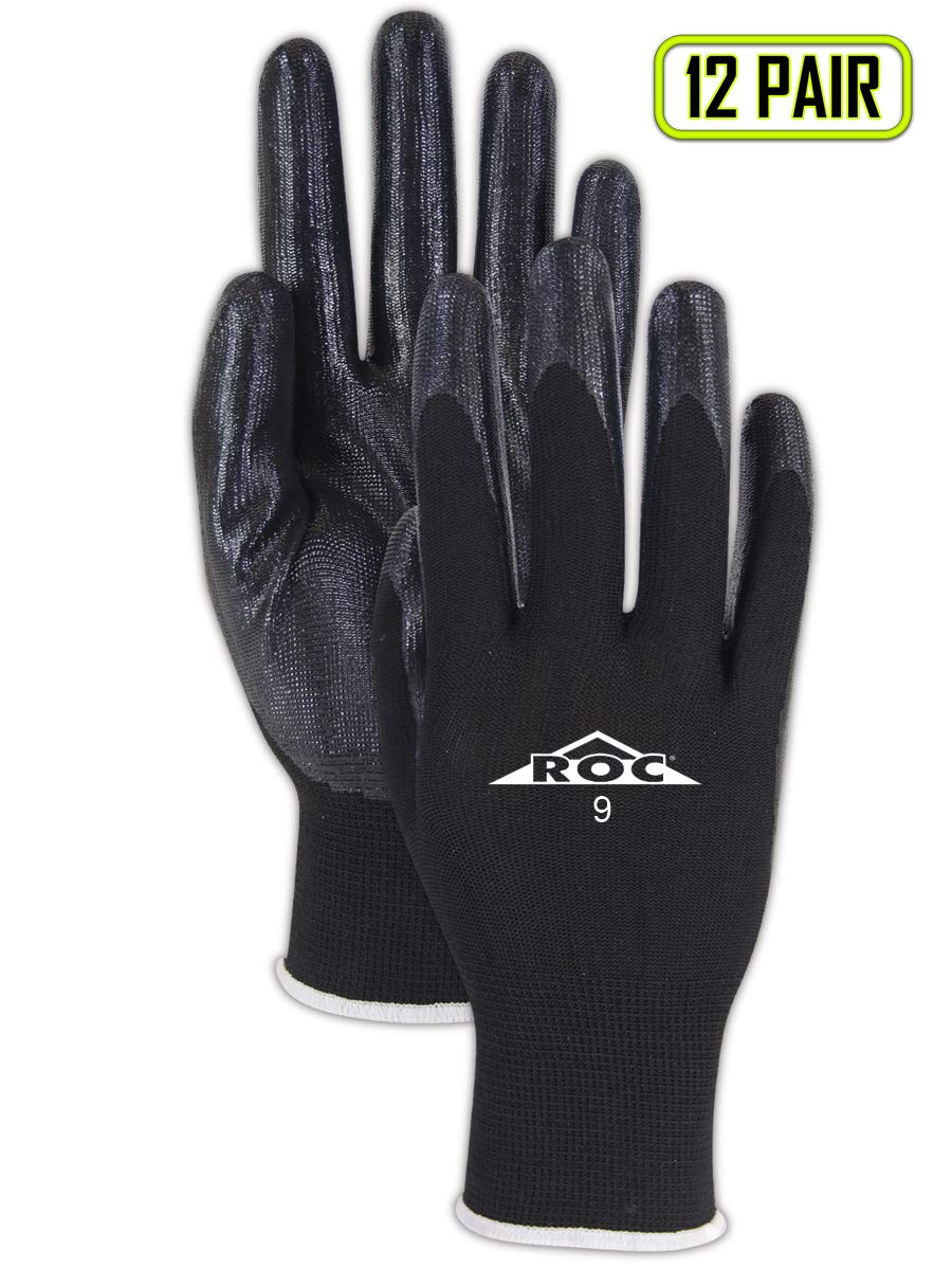 Magid Safety Nitrile Coated Cut Resistant General Purpose Work Gloves - Size 11 (12 Pairs)