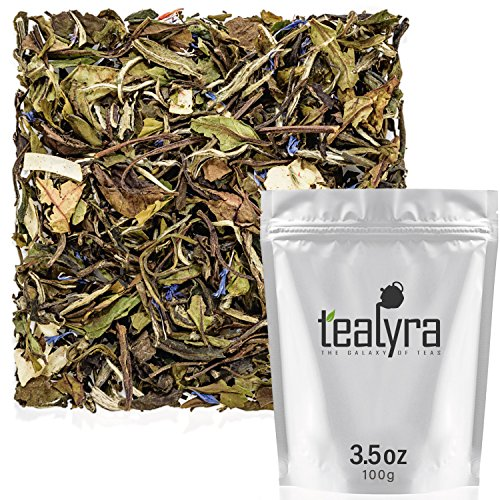 (Tealyra - White Coconut Cream - Premium White Tea with Coconut Chips Blend - Loose Leaf Tea - High in Antioxidants - Caffeine Level Low - All Natural Ingredients - 100g (3.5-ounce))