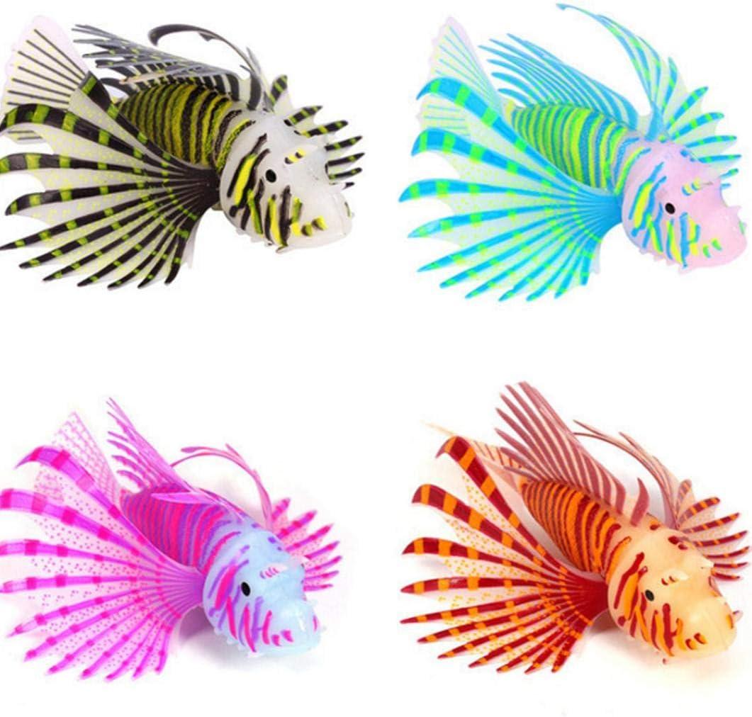Bontand Leone Artificiale dei Pesci Luminoso Pesce Falso Galleggiante Falso Pesci DAcquario Decorativo per Fish Tank Ornamento Glow Simulazione Decorazioni degli Animali