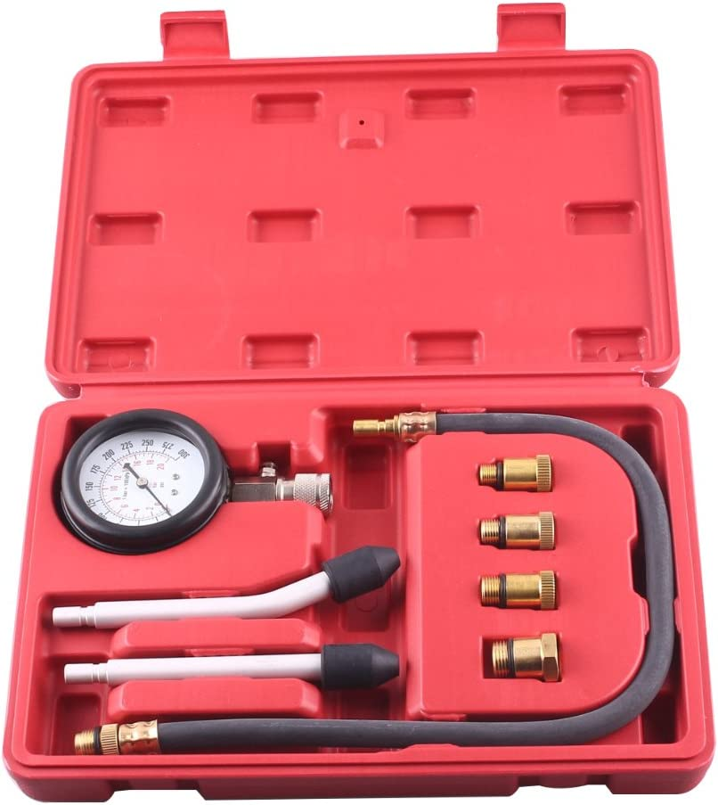 Newsmarts Professional Auto Petrol Gas Engine Cylinder Gauge Kit Compression Tester