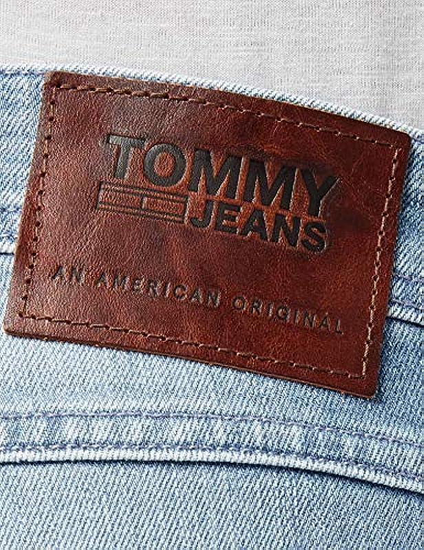 Tommy Jeans męskie oryginalne TAPERED RONNIE BELB Straight Leg dżinsy: Odzież