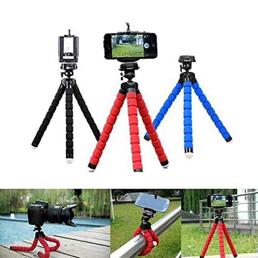 Flexible Octopus Tripod Bracket Selfie Expanding Stand Mount Monopod Styling Accessories for Mobile Phone Camera Mobile Phone Holder Phone Holder BLWX Color : Blue