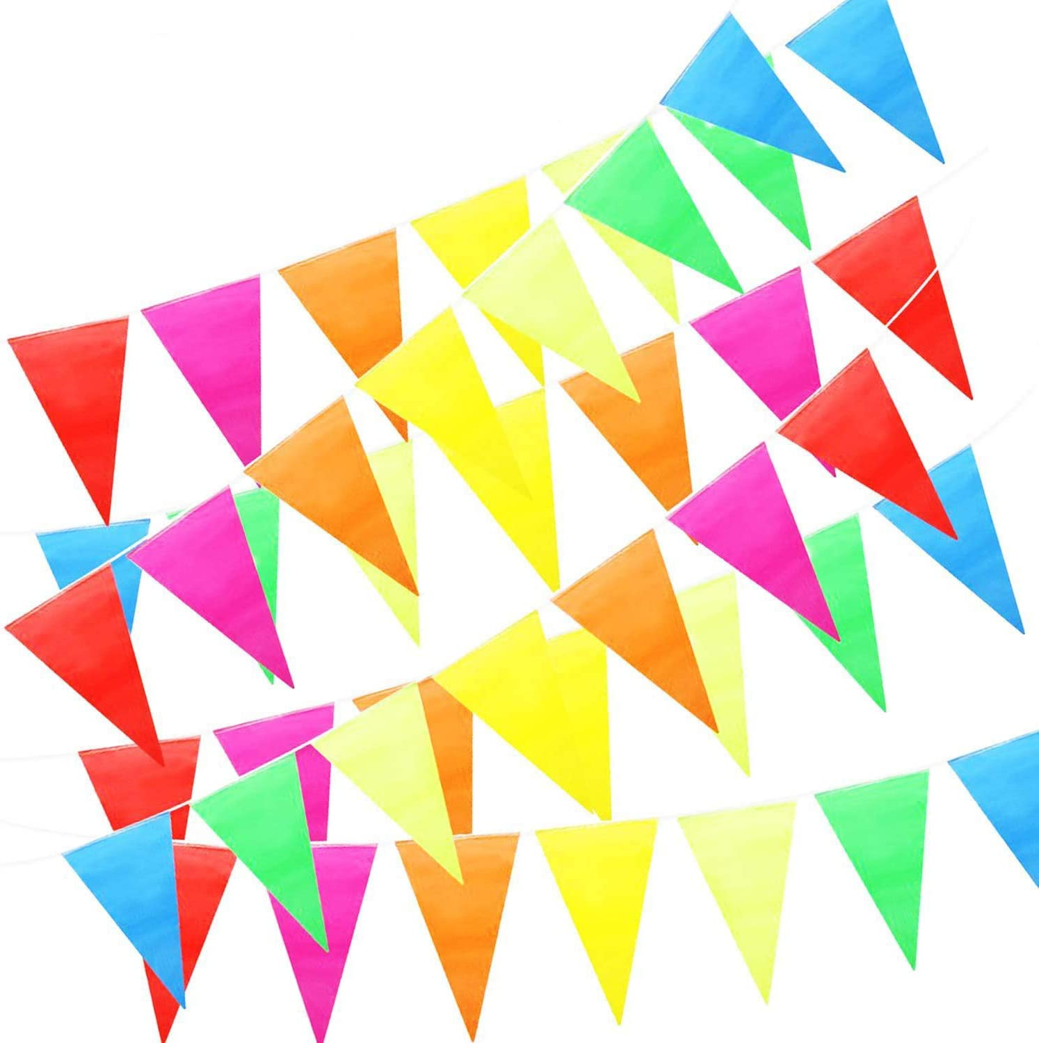 100 m Colorful Fabric Bunting Pennant Outdoor Banner Advertising Hanging Flag