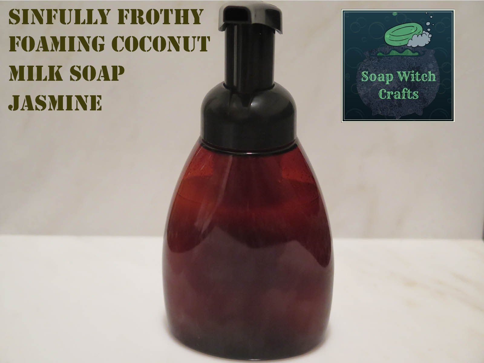 Sinfully Frothy Foaming Coconut Milk Soap - Jasmine Scented