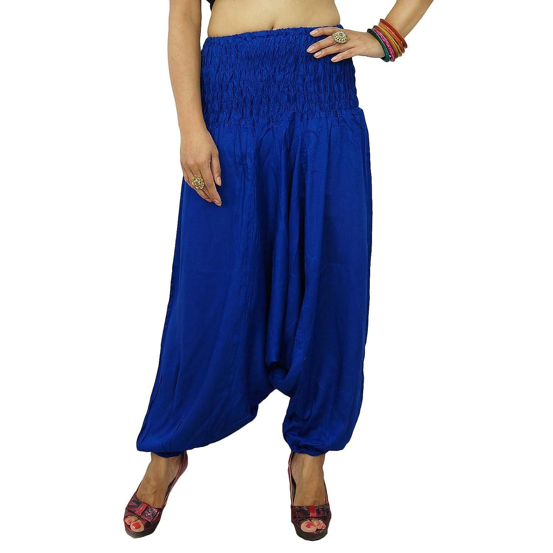 Elastische Taillen-Harem Pants Gypsy-Hosen Damen-Hosen tragen Bohemian Strand Pyjamas