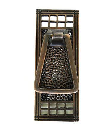 mission style front doorHammered Mission Arts and Crafts Front Door Knocker Bronze Finish