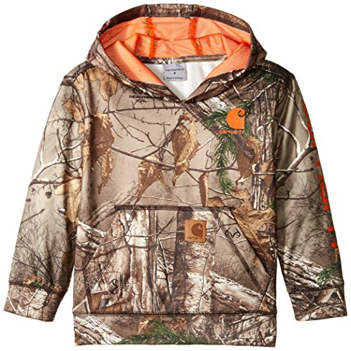 Carhartt Little Boys' Camo Sweatshirt, Realtree Xtra, 4