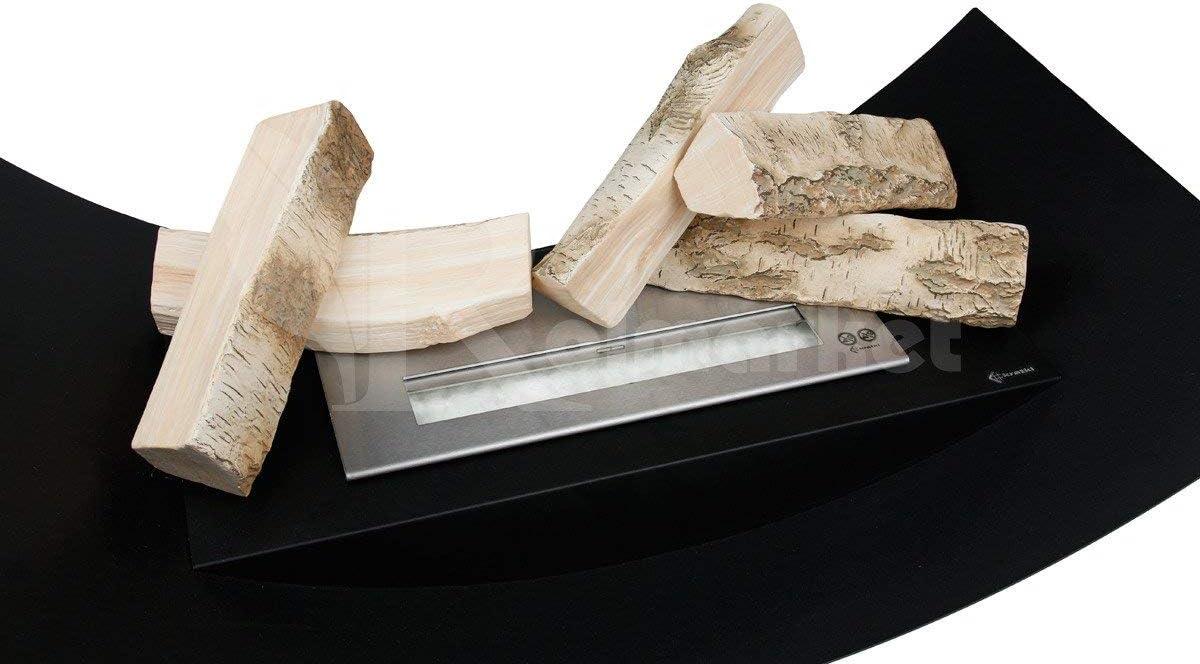 FYRECERAMICS b/ûches de d/écoration en c/éramique pour chemin/ée au bio /éthanol ou chemin/ée /à gel Mix 3 lot de 5