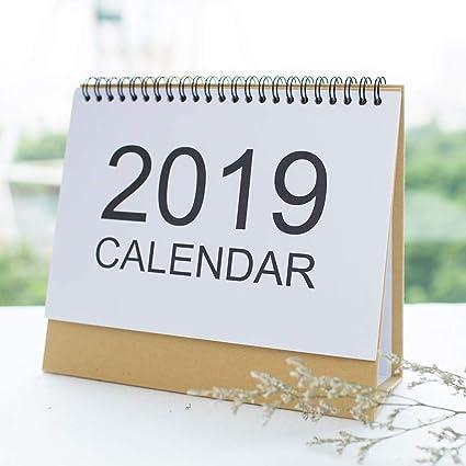 Daily Calendar 2020 February Amazon.: 2019 2020 Desk Calendar   ISEYMI (2019 New Design