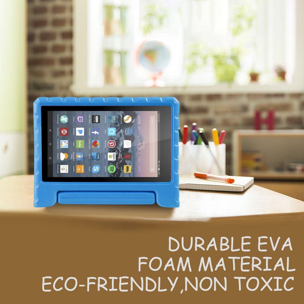 7th Generation - 2017 Release Azul 5th Generation - 2015 Release NEWSTYLE Fire 7 Funda Case EVA Soporte de Cubierta de Mango de Protecci/ón Ligera para Ni/ños para Fire 7 Tablet //Fire 7 Tablet