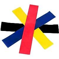 Bandas Elasticas Fitness, Unisex 4 bandas de Neveles Resistencia con Material Goma para Entrenamiento de Fuerza y Fisioterapia Movilidad Recuperación