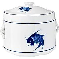 Ciya Blue Carp 1.4L Porcelain Steam Pot