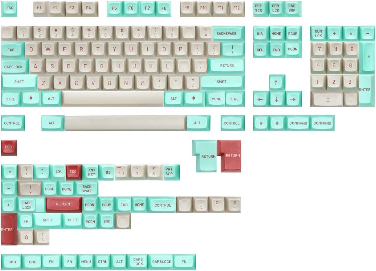 Drop MT3 Jukebox Hi-Profile Doubleshot ABS Keycap Set - Base Kit