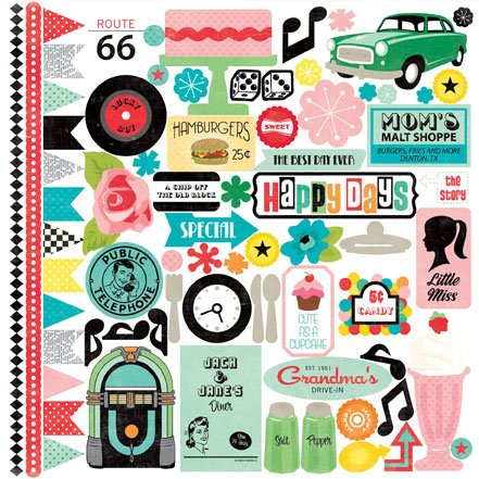 Echo Park Paper Company HD19016TM Happy Days by Lori Whitlock Collection Scrapbooking Kit