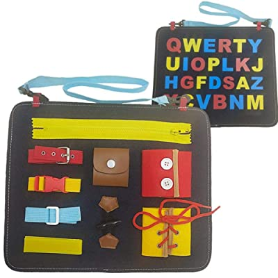 Drawing Board Felt Board Children's Toys Education 1-5 Years Old Toy Drawing Board Learning Dressing Buckle Doodle Scribble Writing Board Colorful Pad Educational Learning Toys for Kids: Home & Kitchen