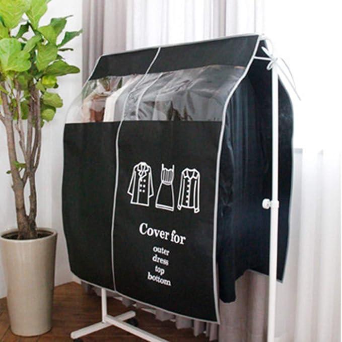 QLING Organizador de Almacenamiento no Tejida 90 x 110 cm Funda Antipolvo para Ropa Perchas Ropa o Vestidos caf/é para Ropa Tama/ño Libre
