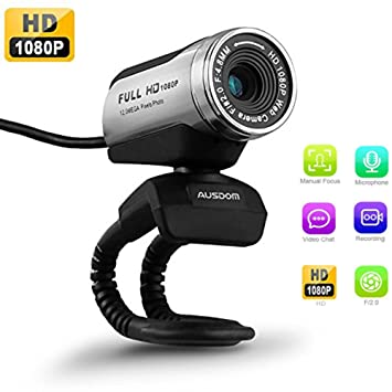 USB Webcam 1080P, AUSDOM 12.0M HD Camera Web Cam with Built-in Microphone