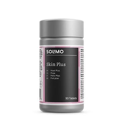 Marca Amazon - Solimo Piel plus Complemento alimenticio a base de multivitaminas y minerales con colágeno