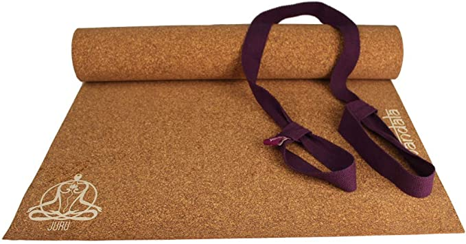 Amazon.com : JURU Mandala Cork Yoga Mat (with Organic Cotton ...