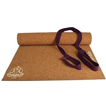 Juru Mandala esterilla de yoga de corcho, 100% Naturales y ...