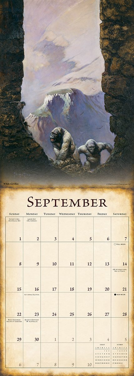The Fantasy Art of Frazetta 2019 Wall Calendar by Sellers Publishing (Image #4)