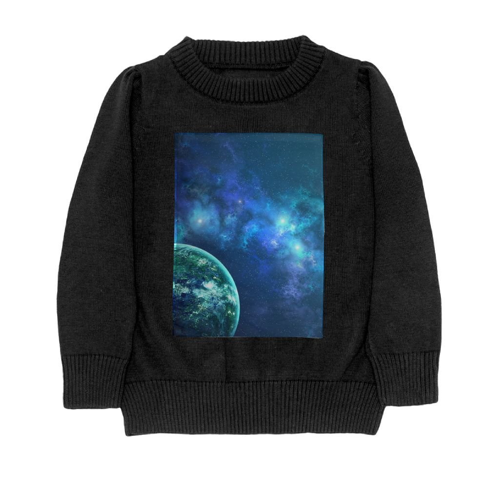 DTMN7 colorful Galaxy Space Magical Nebula Planet Teens Sweater Long Sleeves Crew-Neck Youth Athletic Casual Tee Junior Boys