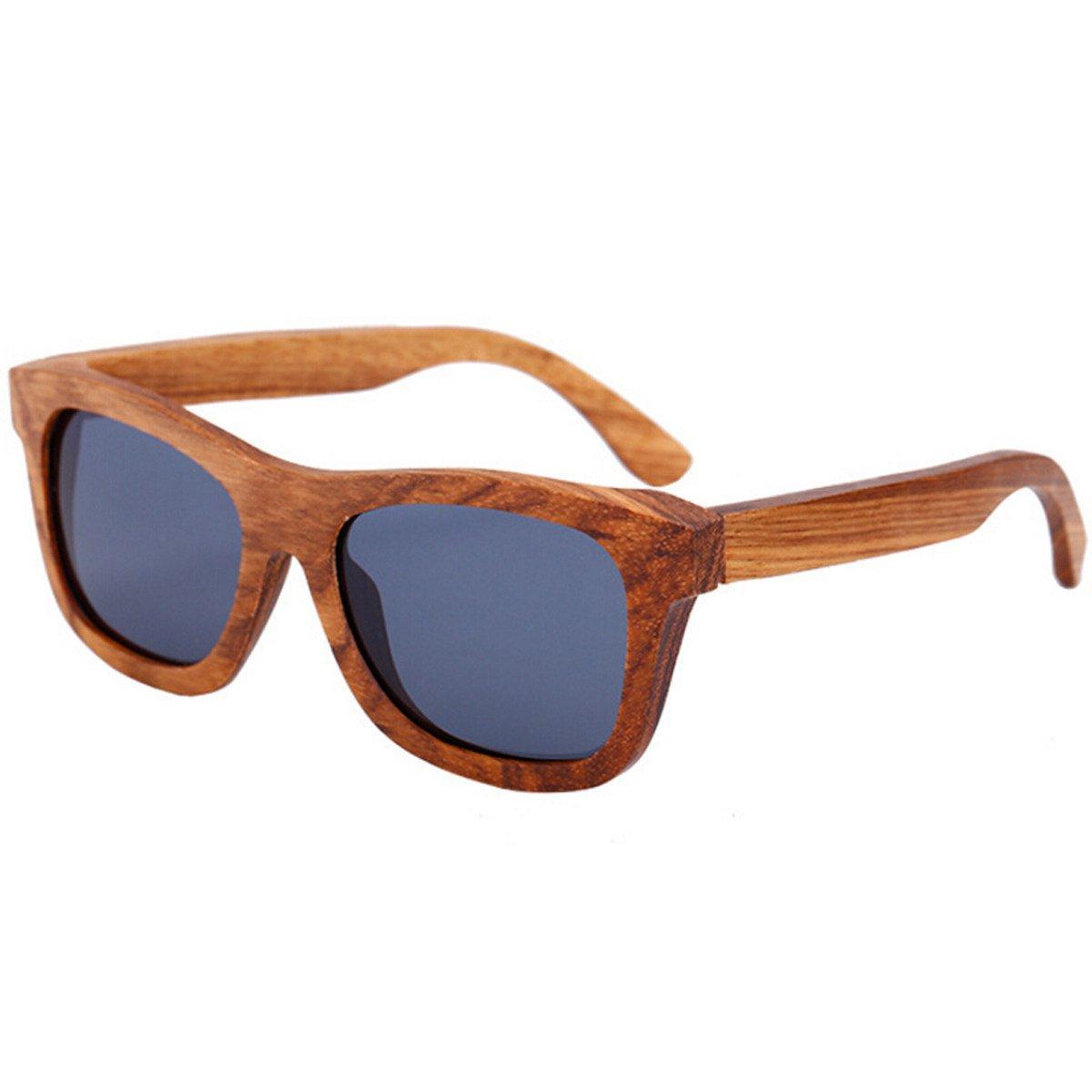 Gafas De Sol De Madera Retro Hombres De Bambú Polarizadas ...