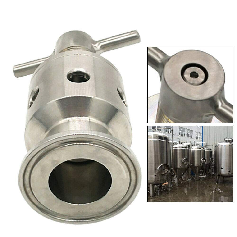 YUNRUS Safety Exhaust Valve 1.5 Valve Tri Clamp Stainless Steel Adjustable Pressure Relief Valve