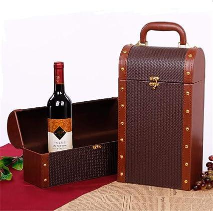 Botella de vino de la botella doble, Vino Caja de almacenamiento ...